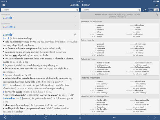 Collins Pro Spanish-English Translation Dictionary iPad Screenshot 2
