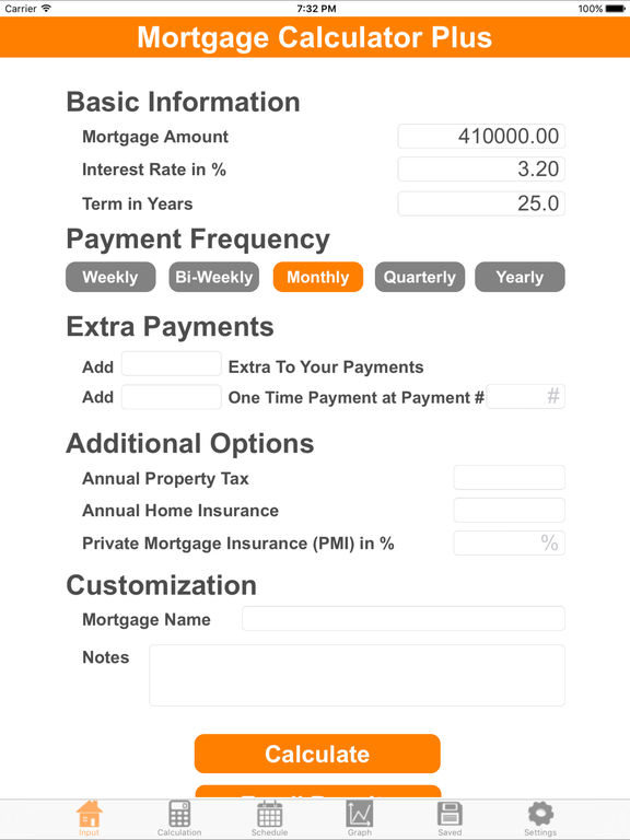 Mortgage Calculator Plus screenshot