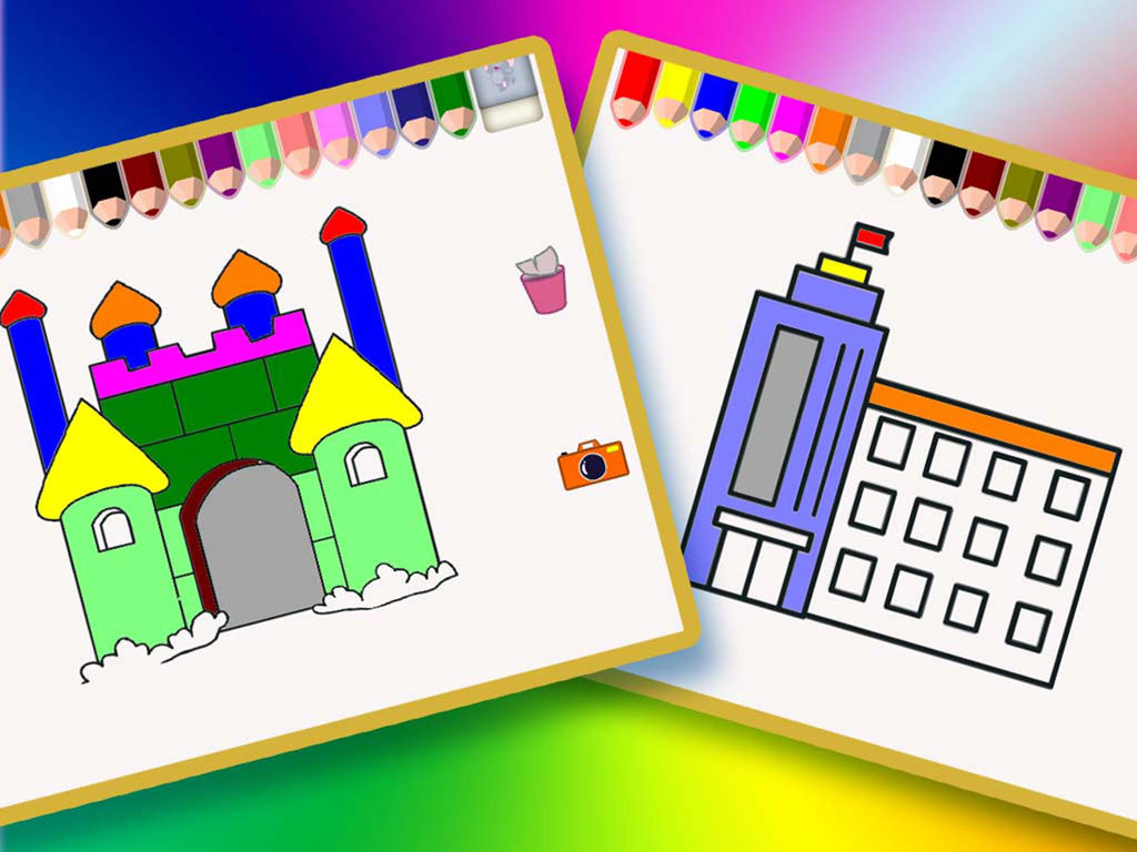 幼儿儿童免费绘画画画游戏大全 - 我给美丽房屋涂色的秘密花园世界