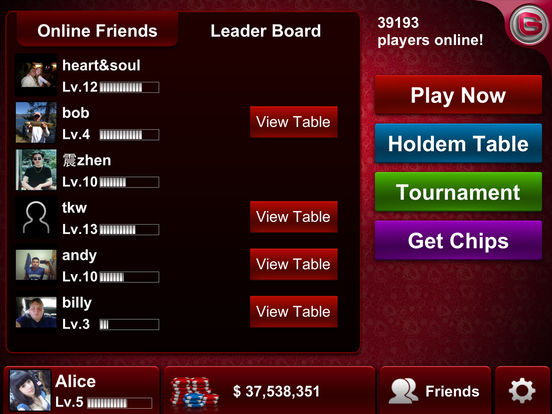 Live Holdem Poker screenshot