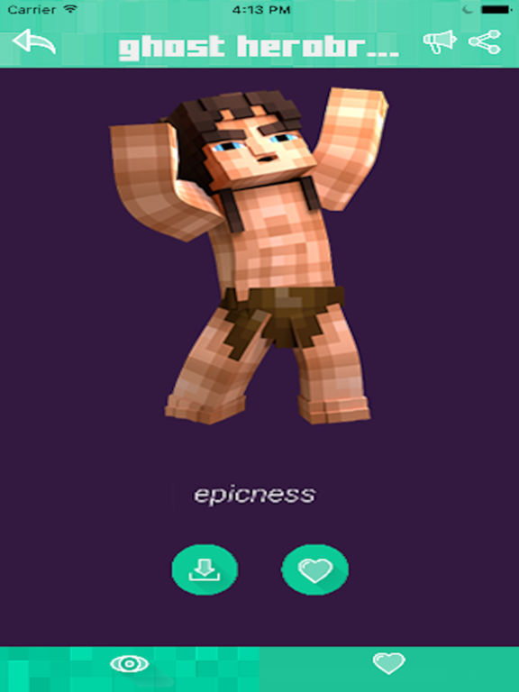 SKINS For Minecraft PE PC Herobrine Skin For Pocket Edition - Skin para minecraft pe pc