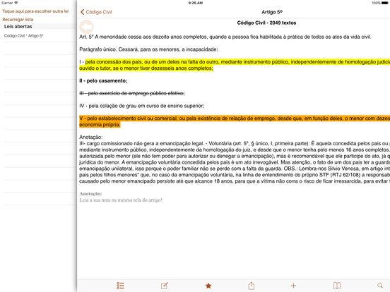 Vade Mecum Free Direito Brasil iPad Screenshot 4