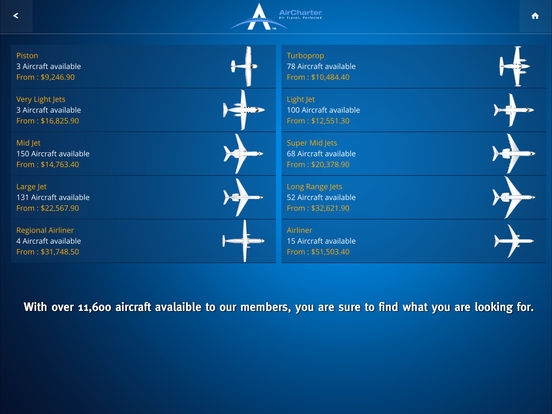 AirCharter Smarter Private Jet Charter screenshot