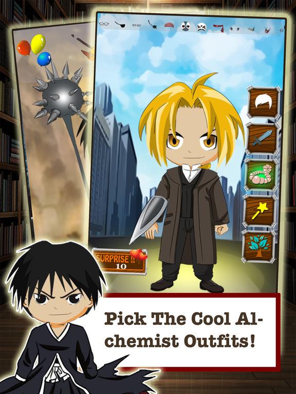 FMA Anime DressUp Games - Manga Maker For Kids FullMetal Alchemist Editionscreeshot 4