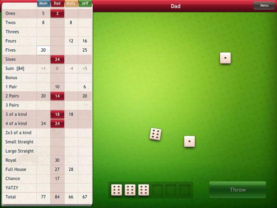 Yatzy iPad Screenshot 2