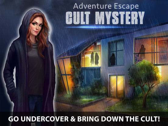 Screenshots of Adventure Escape: Cult Mystery (Murder Case, Room, Doors, and Floors Detective Story!) for iPad