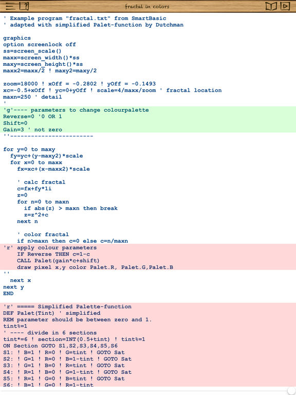 smart BASIC - BASIC programming language for iOS screenshot