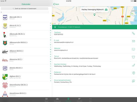 hockey.nl Standenmotor iPad Screenshot 2