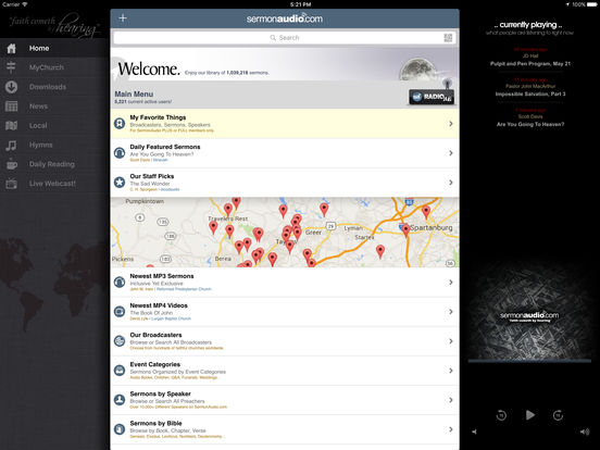 SermonAudio iPhone Edition iPad Screenshot 1