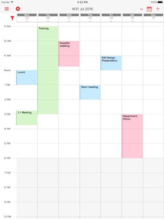 Week Calendar Pro Screenshots
