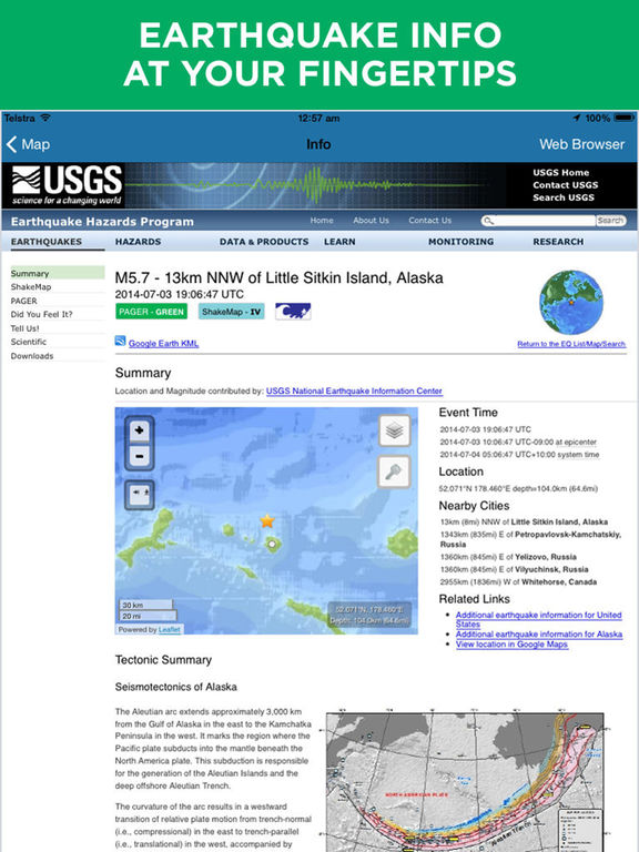 Earthquake+ | Earthquakes Map, News, Alert, Info with Facebook and Twitter integration (former Oz Quake) screenshot