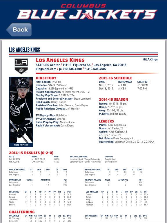 Columbus Blue Jackets Interactive Media Guide on the App Store