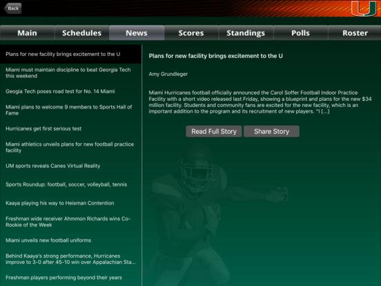 Miami Hurricanes College SuperFans iPad Screenshot 3