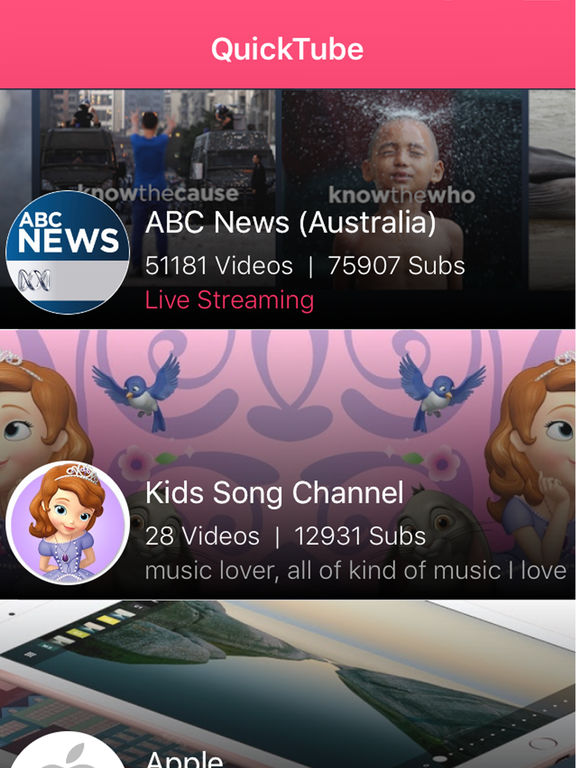 QuickTube Screenshots