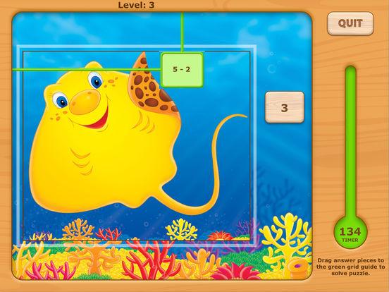 Adventures UnderSea Subtraction Game iPad Screenshot 5