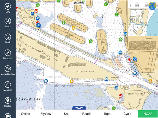 Miami to Key West HD - Water Map Navigator iPad Screenshot 1