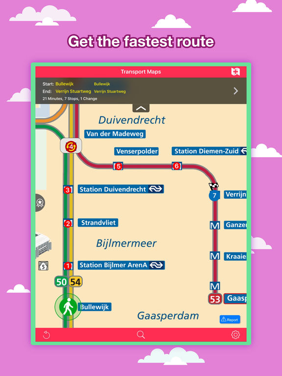 Amsterdam Transport Map - Metro and Route Planner Screenshots