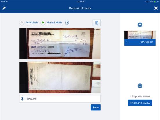 BBVA Compass Mobile Banking (PD) iPad Screenshot 4