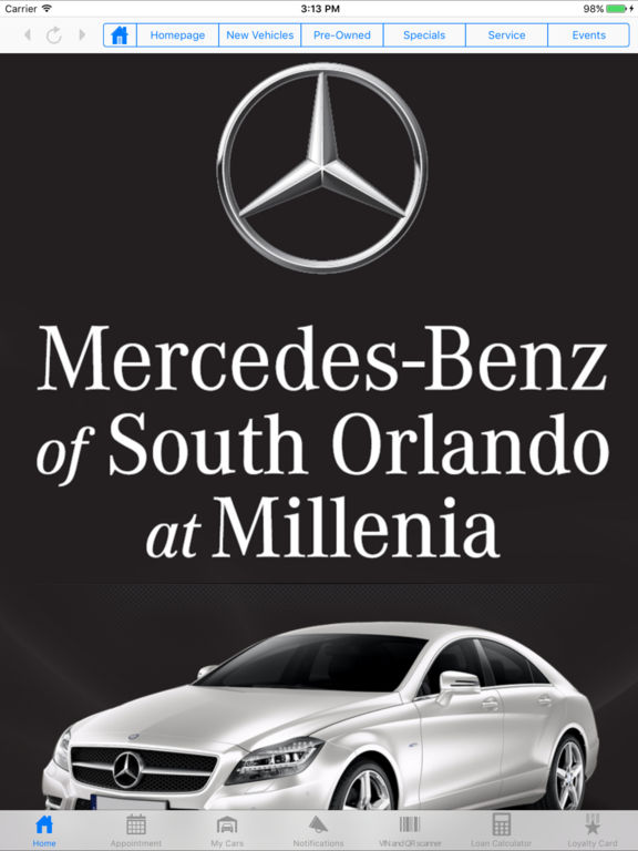 App shopper mercedes benz of south orlando business for Mercedes benz south orlando