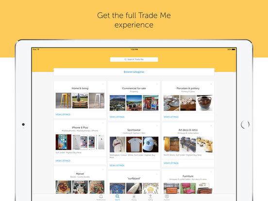 Trade Me iPad Screenshot 1