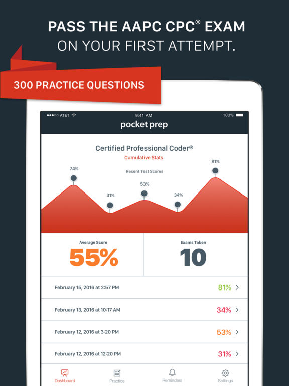 Cpc icd 10 exam prep 2016 edition on the app store