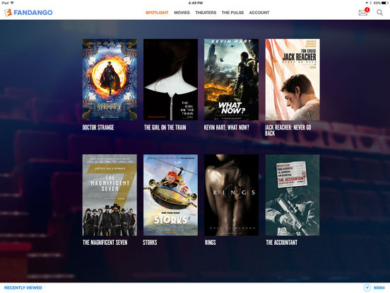 Screenshots of Fandango Movies - Times + Tickets for iPad