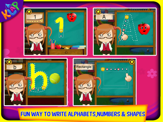 Trace It - Alphabets Numbers and Shapes HD Screenshots