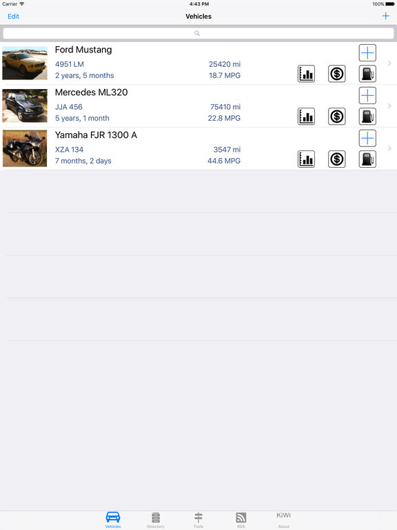 Car Manager : your Car or Bike, in your pocket ! Screenshots
