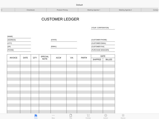 Billing Book Screenshots