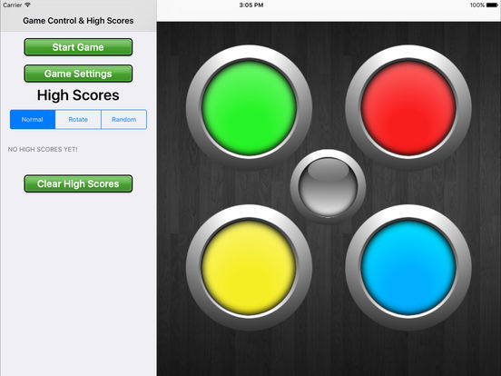 Mega Simon HD - Classic Memory Game iPad Screenshot 1