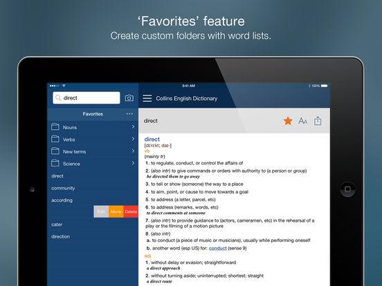 Collins English Dictionary Unabridged iPad Screenshot 4