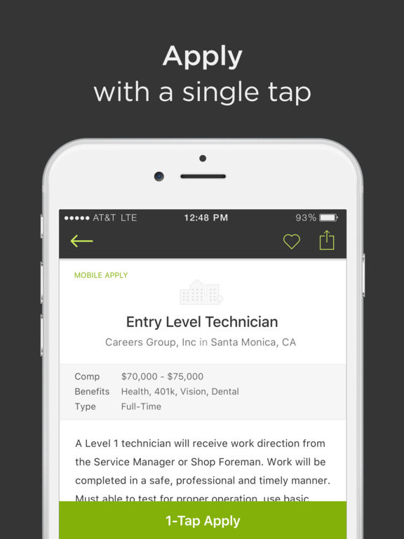 ziprecruiter job search on the app store