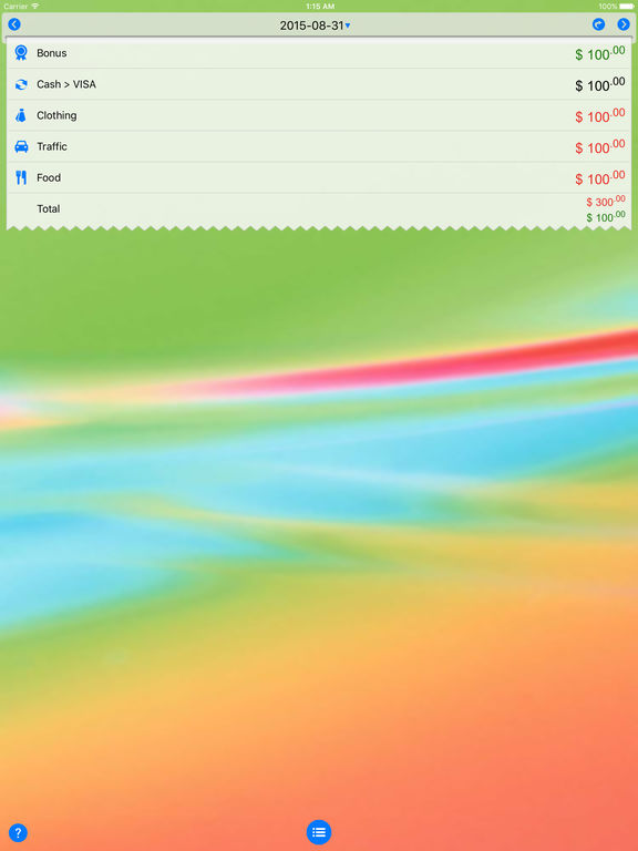 Screenshot #1 for DayCost Pro - Personal Finance, Money Manager