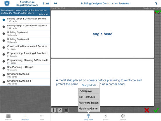 Kaplan Architecture Registration Exam (ARE) 4.0 Flashcards and Reference iPad Screenshot 1