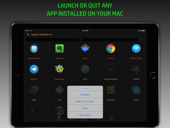 Remote Control, Keyboard & Trackpad for Mac [Pro] Screenshots