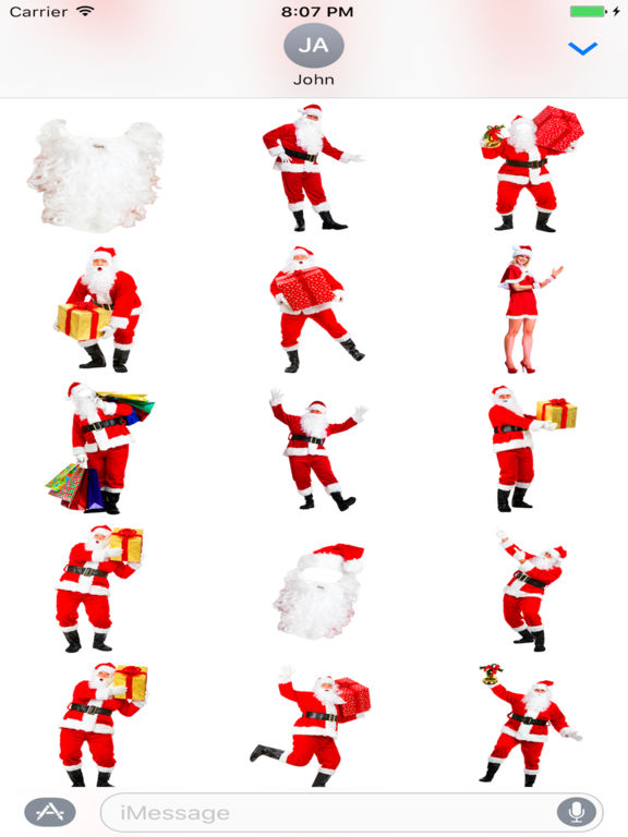 App shopper selfie santa sticker stickers
