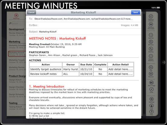 Meeting Pad iPad Screenshot 4