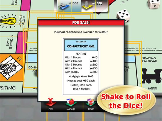 MONOPOLY for iPad iPad Screenshot 3