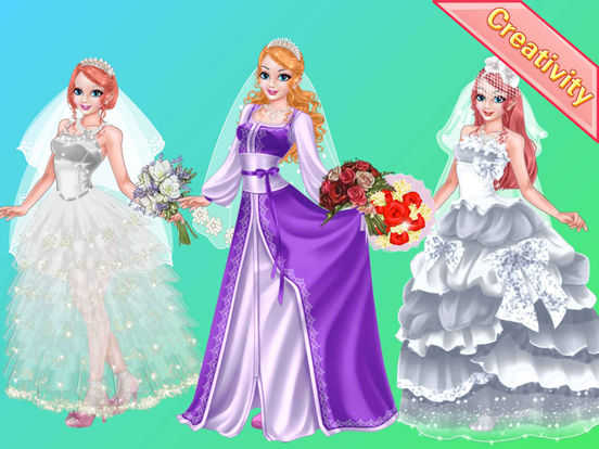 App shopper design mr wedding gown girl games games for Design your wedding dress app