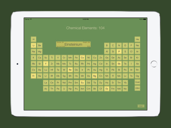 Chemical Elements Trainer iPad Screenshot 1