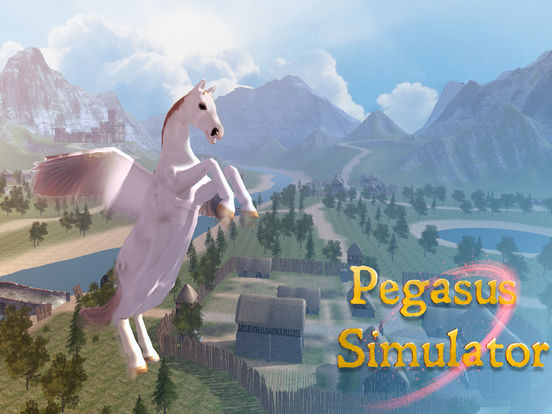 Flying Pegasus: Magic Horse Simulator 3D Full Screenshots