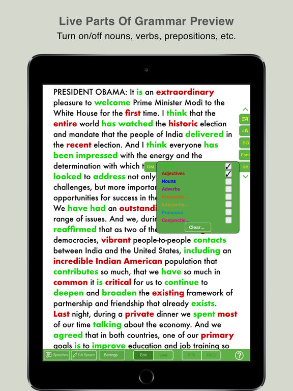 Speech Maker- Speech Database, Teleprompter, Timer Screenshots