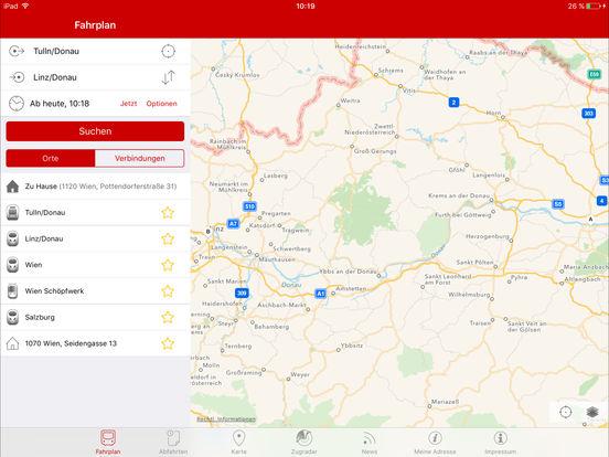 ÖBB - SCOTTY mobil iPad Screenshot 1