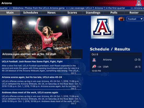 Arizona Wildcats College SuperFans iPad Screenshot 1