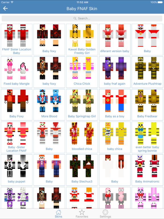 Baby Skins Cute Skins For Minecraft Edition AppRecs - Skins para minecraft pe foxy