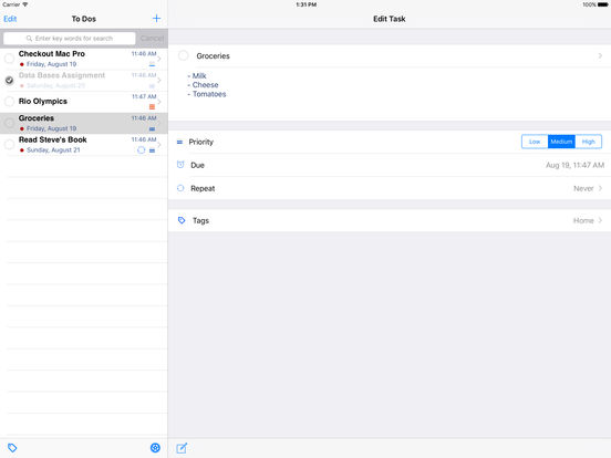 To Do's 2 iPad Screenshot 2