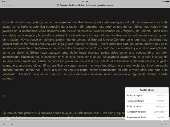 El Crepúsculo de los Idolos iPad Screenshot 2