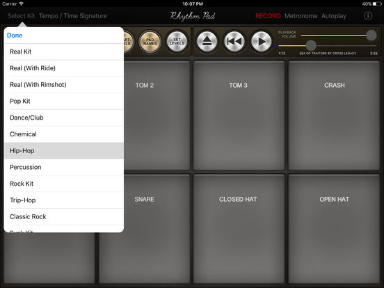 Rhythm Pad – Play Drums, Record and Make Beats Screenshots