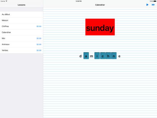 iSpell French iPad Screenshot 1