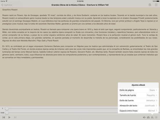 Grandes Obras de la Música Clásica (Biografía y Música) iPad Screenshot 1